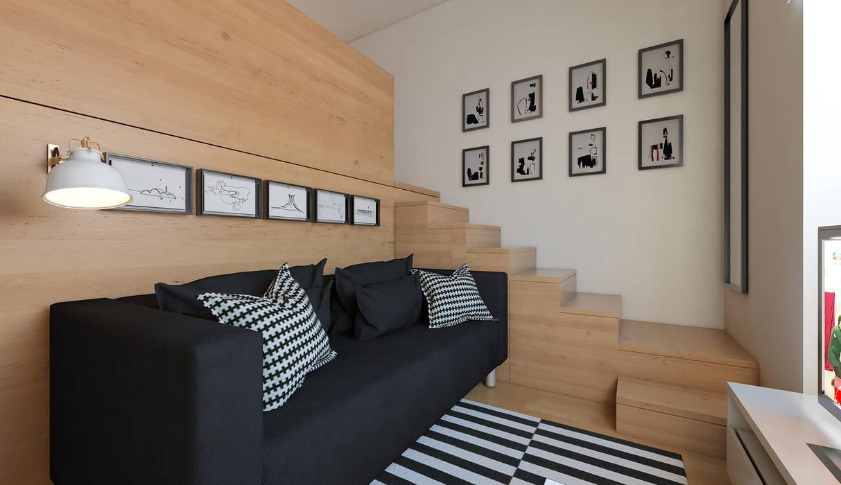 Salas de estilo minimalista de José Tiago Rosa Minimalista