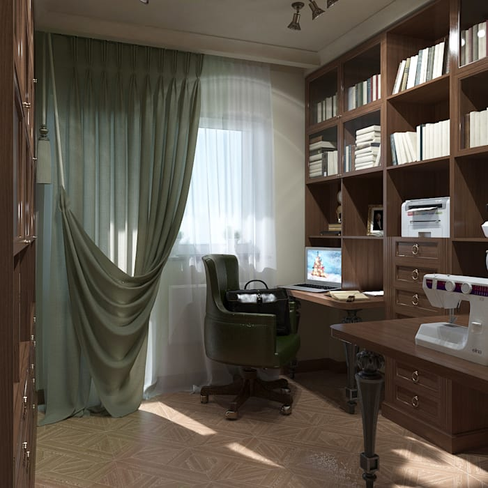โดย Студия Архитектуры и Дизайна Алисы Бароновой คลาสสิค