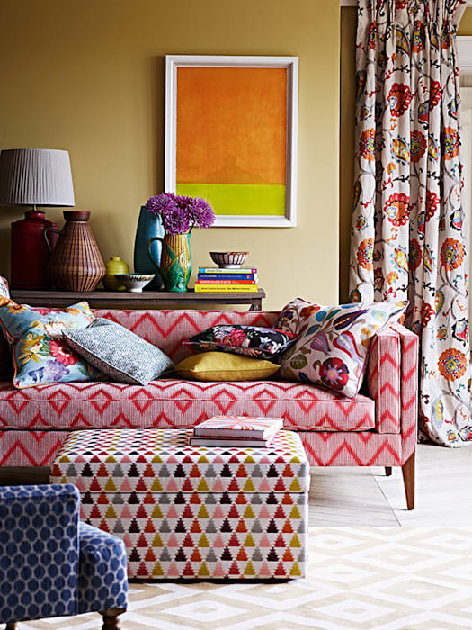 eclectic  by Els Home, Eclectic Textile Amber/Gold