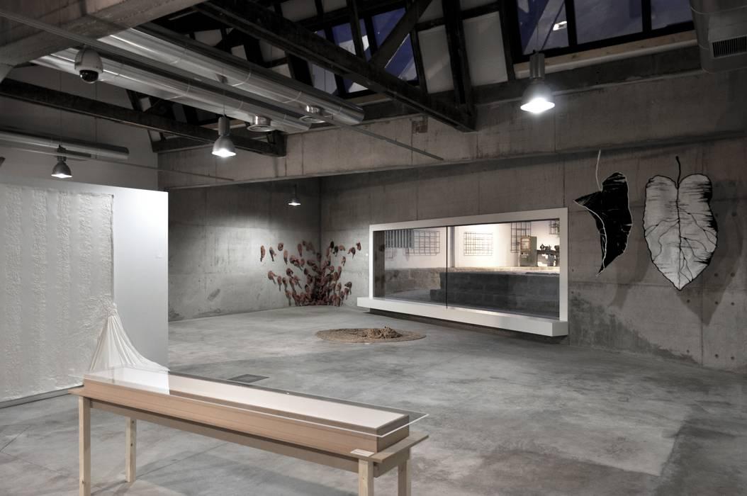 Casa da Memória em Guimarães Espaços de trabalho minimalistas por Miguel Guedes arquitetos Minimalista
