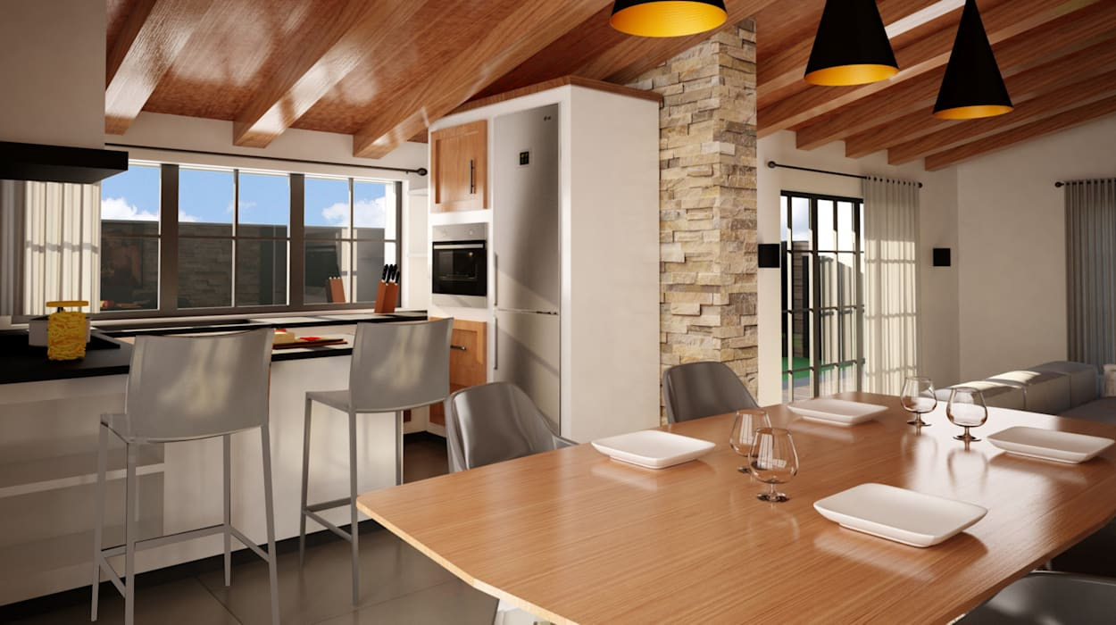 Cocinas de estilo  por IA-Ingegneria e Architettura_Noemi Manzella, Rústico