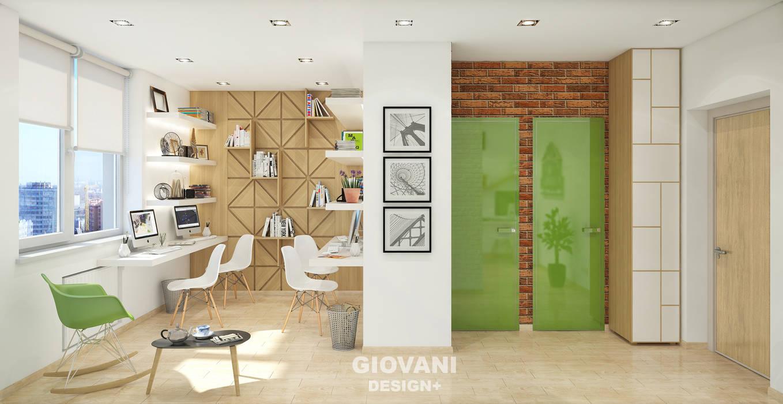 """Офис """"Декодар"""": Рабочие кабинеты в . Автор – Giovani Design Studio, Лофт"""
