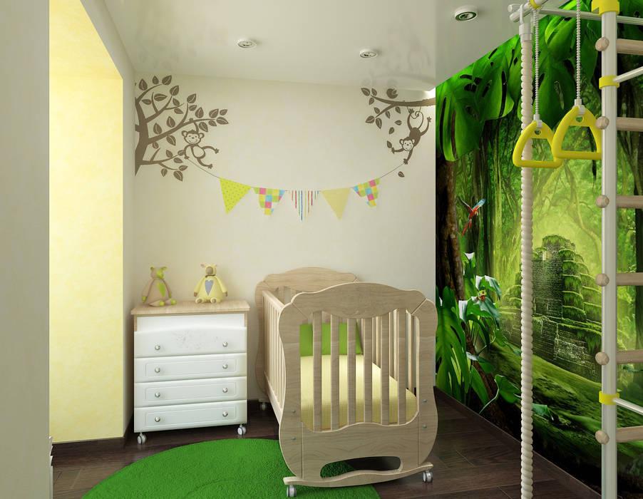 Квартира для молодой семьи Детские комната в эклектичном стиле от Ирина Альсмит Эклектичный