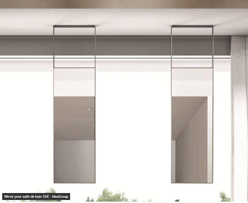 Miroirs suspendus contemporains: Salle de bains de style  par Résolument Déco