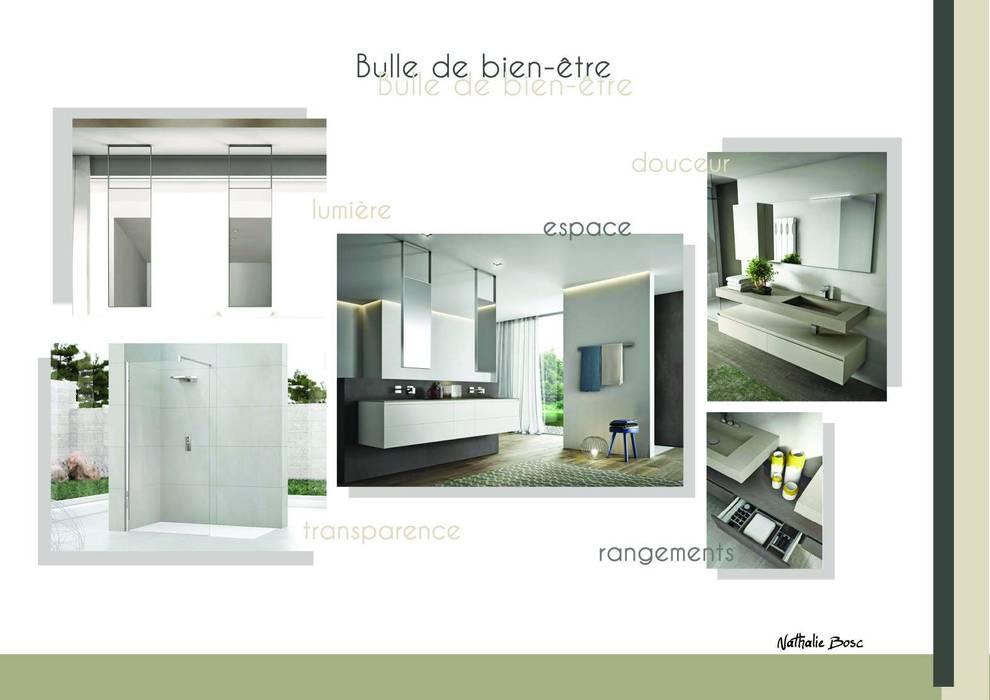 Planche d'ambiance: Salle de bains de style  par Résolument Déco
