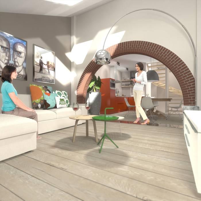 Wonen in de ijzergieterij: industriële woonkamer door ...