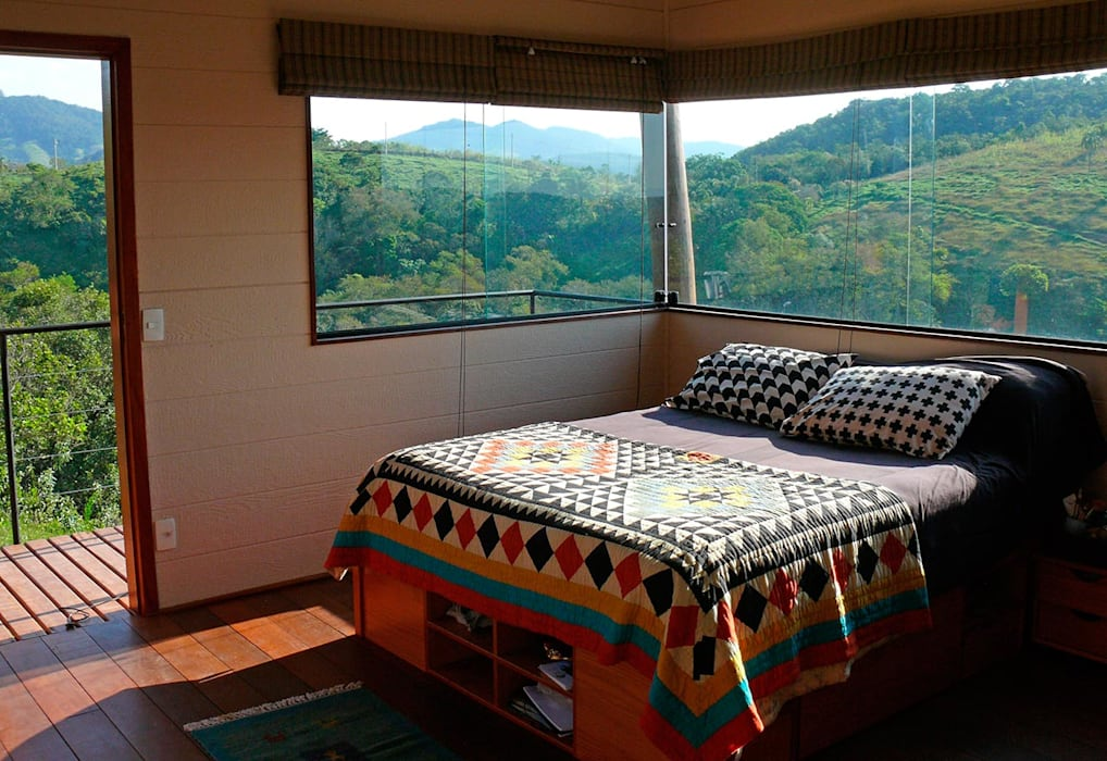 Rustic style bedroom by Cabana Arquitetos Rustic OSB