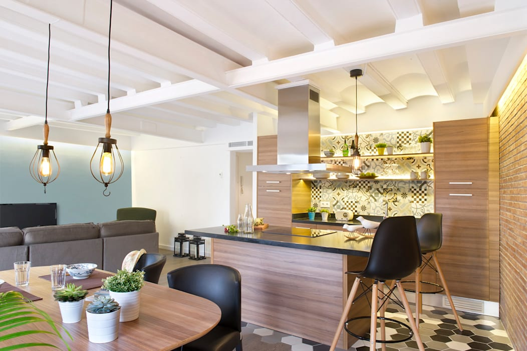 現代廚房設計點子、靈感&圖片 根據 Egue y Seta 現代風