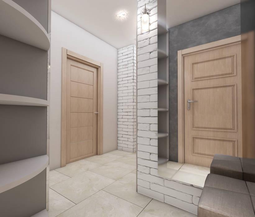 Лето Дизайн Minimalist corridor, hallway & stairs Grey