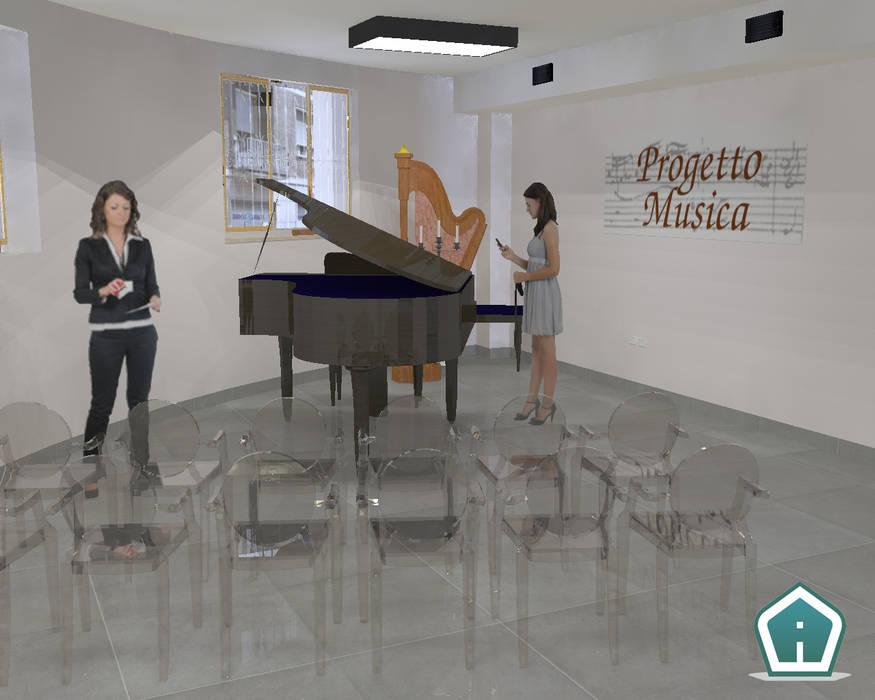 Restauro architettonico palazzo storico: Sedi per eventi in stile  di 3d Casa Design