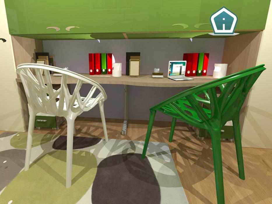 Camerette: Camera da letto in stile in stile Moderno di 3d Casa Design
