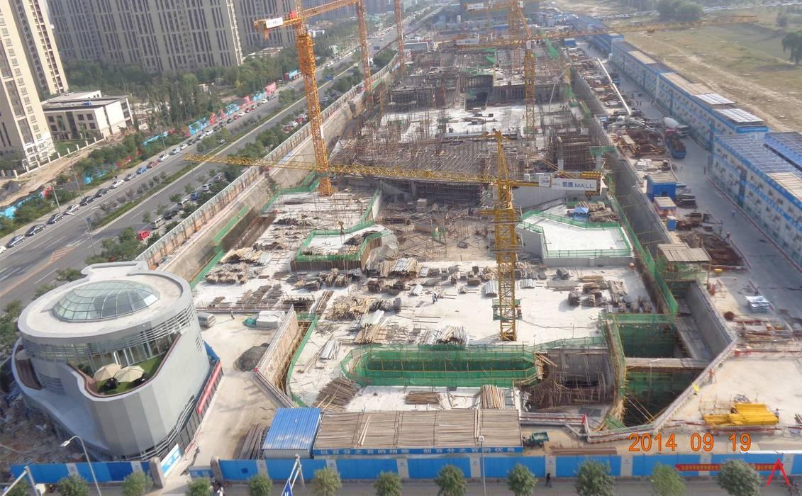 Daxing Exhibition Center: Espacios comerciales de estilo  de LATITUDE, Moderno Aluminio/Cinc