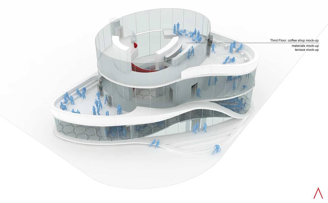 Daxing Exhibition Center LATITUDE Espacios comerciales de estilo moderno Gris