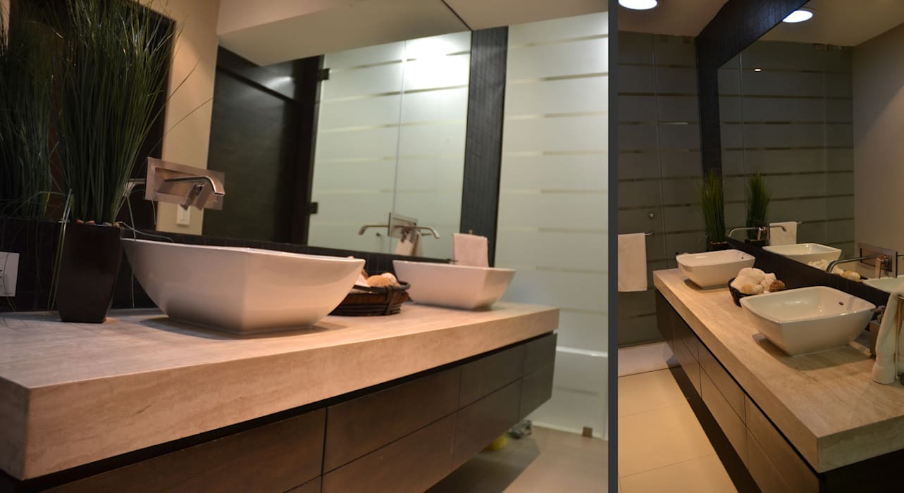 Modern Bathroom by TREVINO.CHABRAND | Architectural Studio Modern
