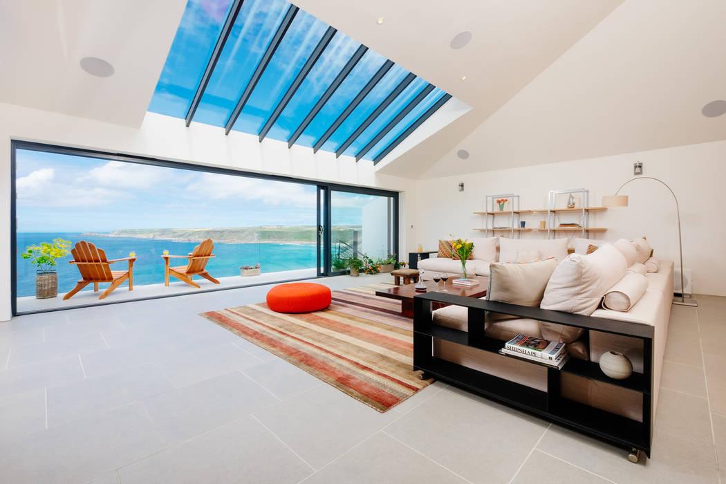 Gwel an Treth Perfect Stays 现代客厅設計點子、靈感 & 圖片