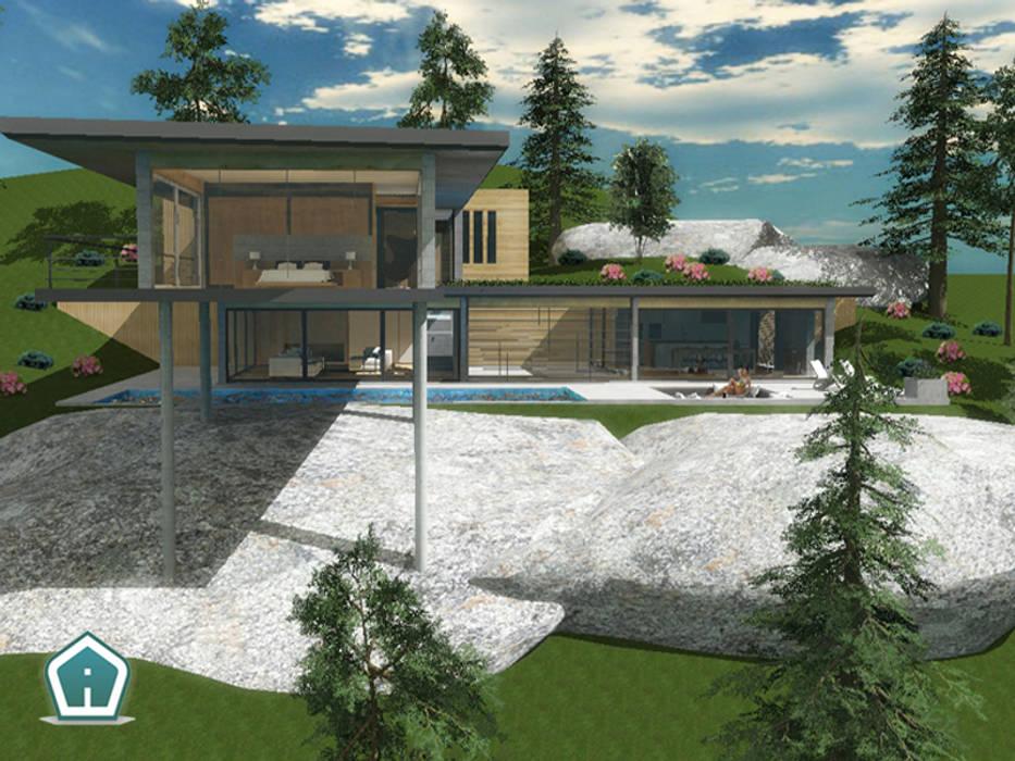 Esterni e giardini case in stile di 3d casa design homify for Stili di case esterni