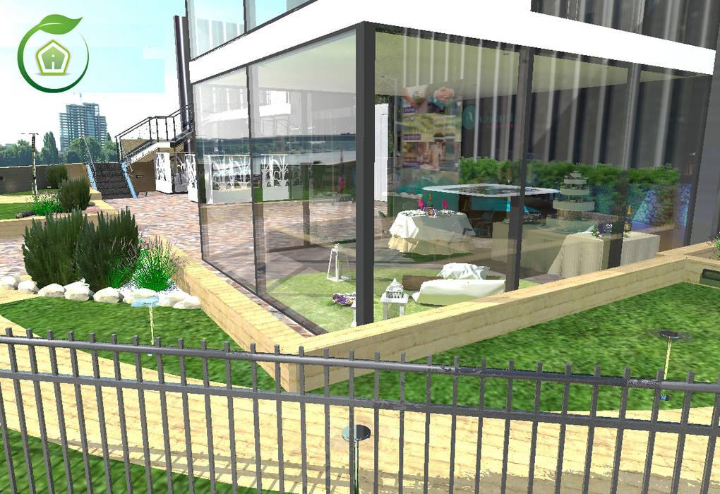 Esterni e giardini: Giardino d'inverno in stile in stile Moderno di 3d Casa Design