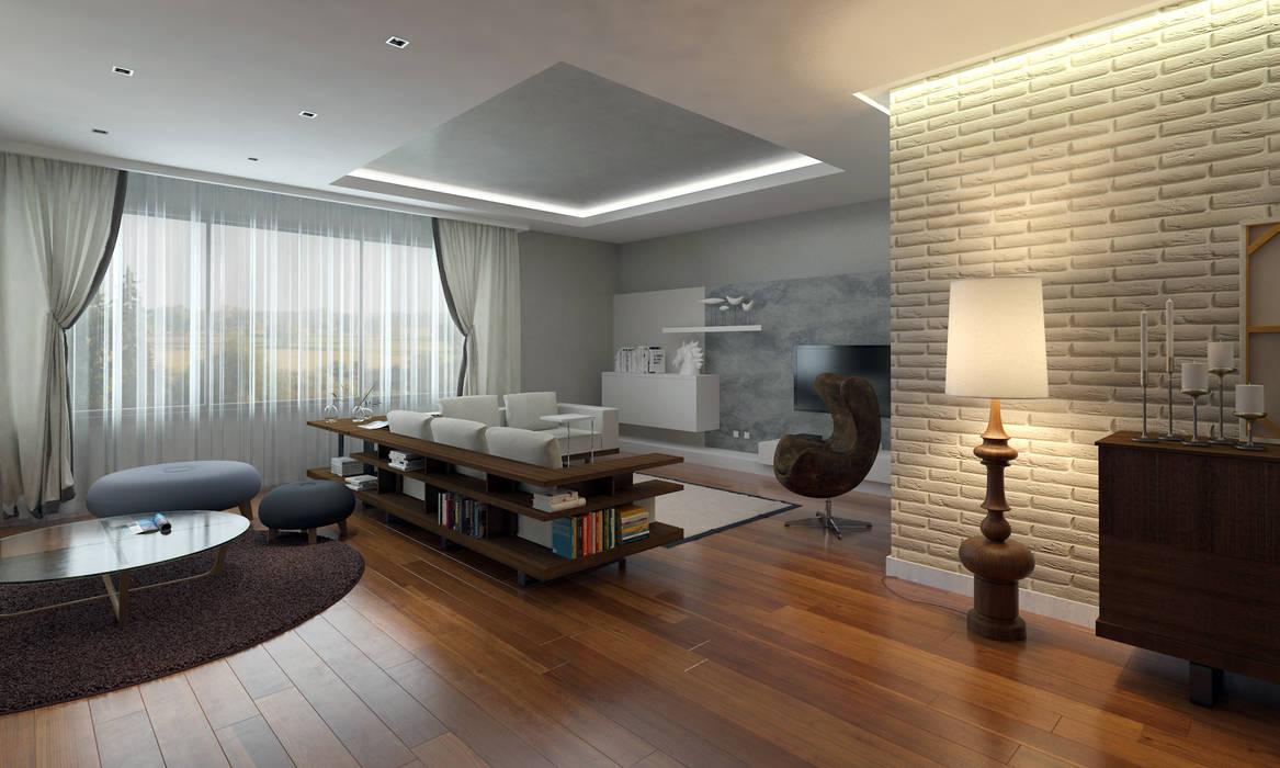 Abb Design Studio – Beysu konakları - Örnek daire :  tarz İç Dekorasyon,