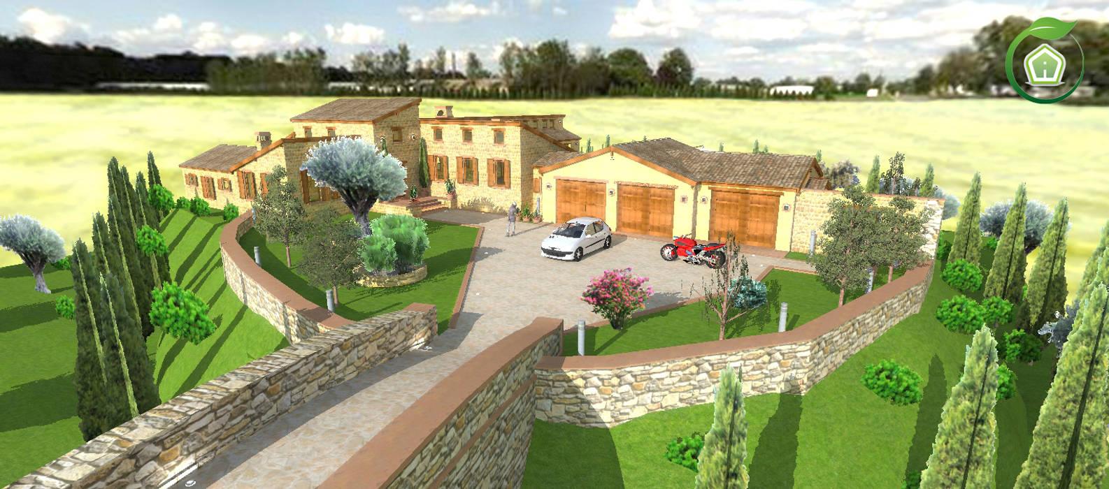 Giardini Per Case Moderne esterni e giardini case moderne di 3d casa design moderno