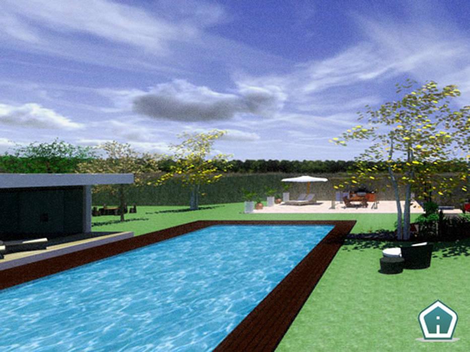 Esterni e giardini: Piscina in stile in stile Moderno di 3d Casa Design