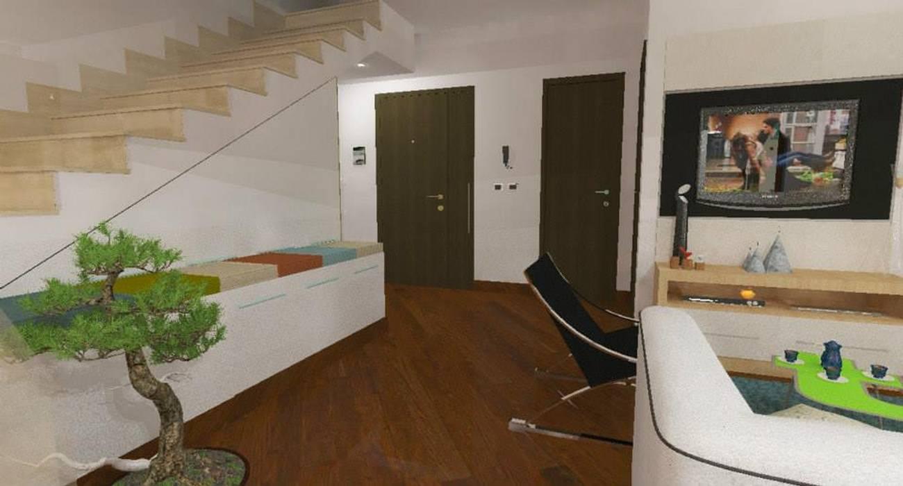 Home staging soggiorno: Ingresso & Corridoio in stile  di 3d Casa Design