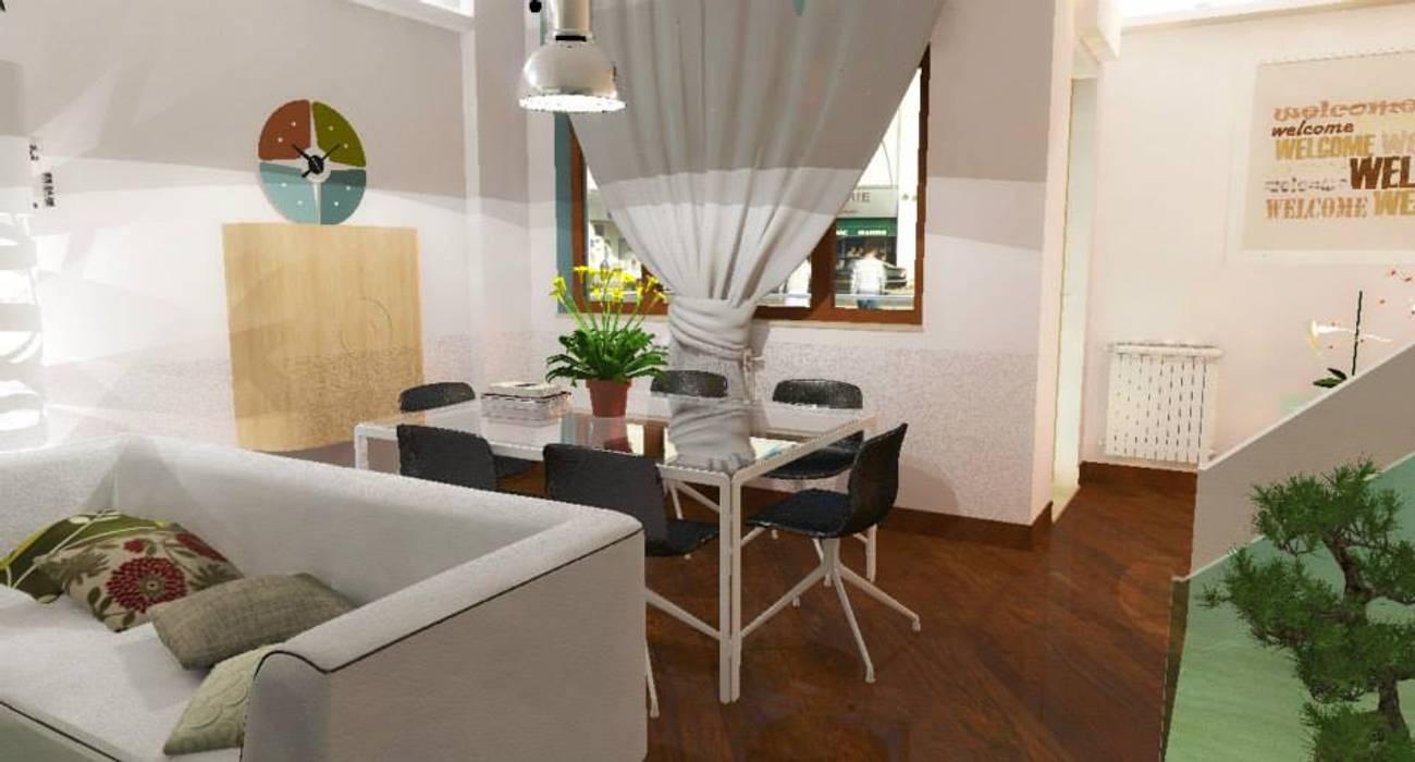 Home staging soggiorno: Sala da pranzo in stile in stile Moderno di 3d Casa Design