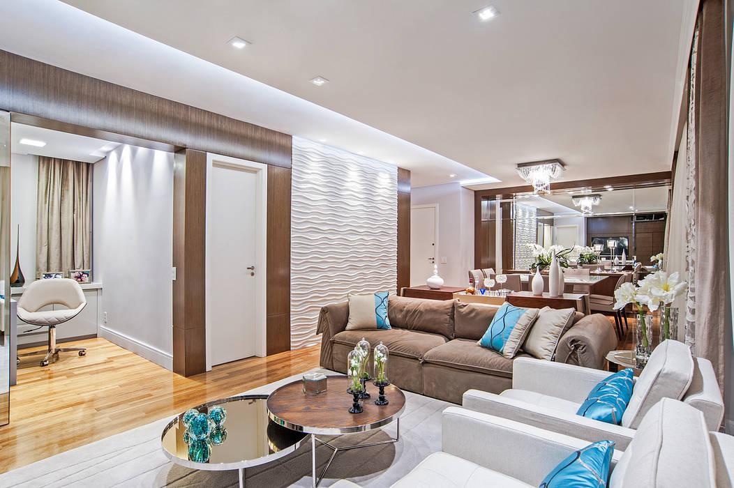 Modern Living Room by Adriane Perotoni Arquitetura.Interiores Modern