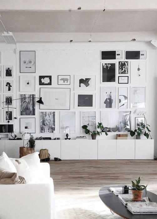 Espacios decorados by Wallart Стены и пол в стиле модерн от CUSTOMS handmade Модерн
