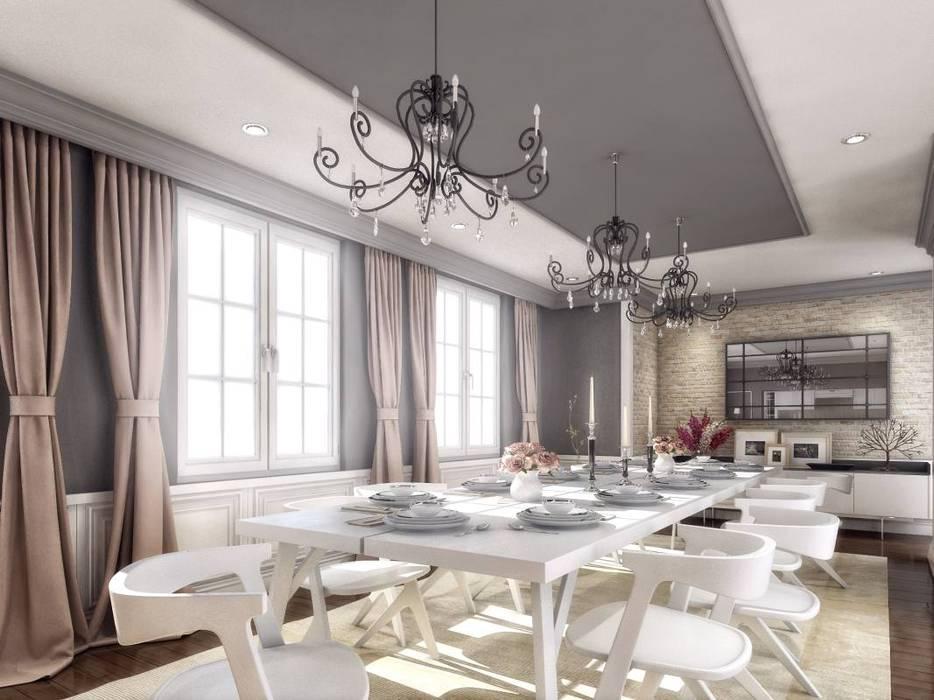 VERO CONCEPT MİMARLIK – Yunus Emre  Villa - İsveç:  tarz Yemek Odası, Modern