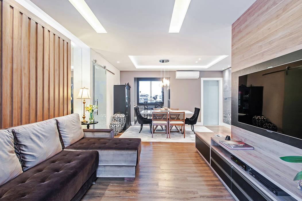 Apartamento 601 Salas de estar modernas por Patrícia Azoni Arquitetura + Arte & Design Moderno