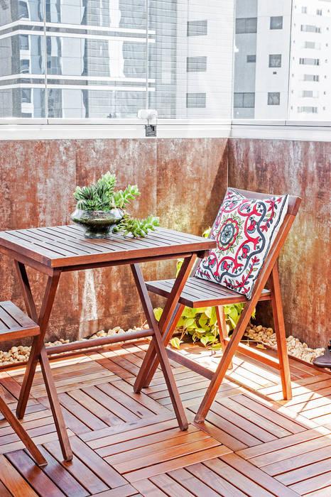 Balcone, Veranda & Terrazza in stile moderno di Patrícia Azoni Arquitetura + Arte & Design Moderno