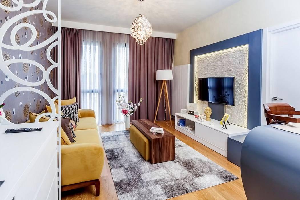 Mera Suites Residence Mekan Çekimi Modern Oturma Odası .NESS Reklam ve Fotoğrafçılık Modern