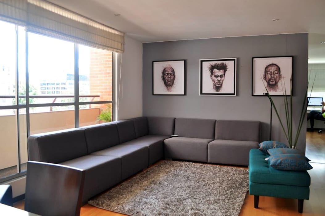 Apartamento torres de chico Davecube Design Salas modernas