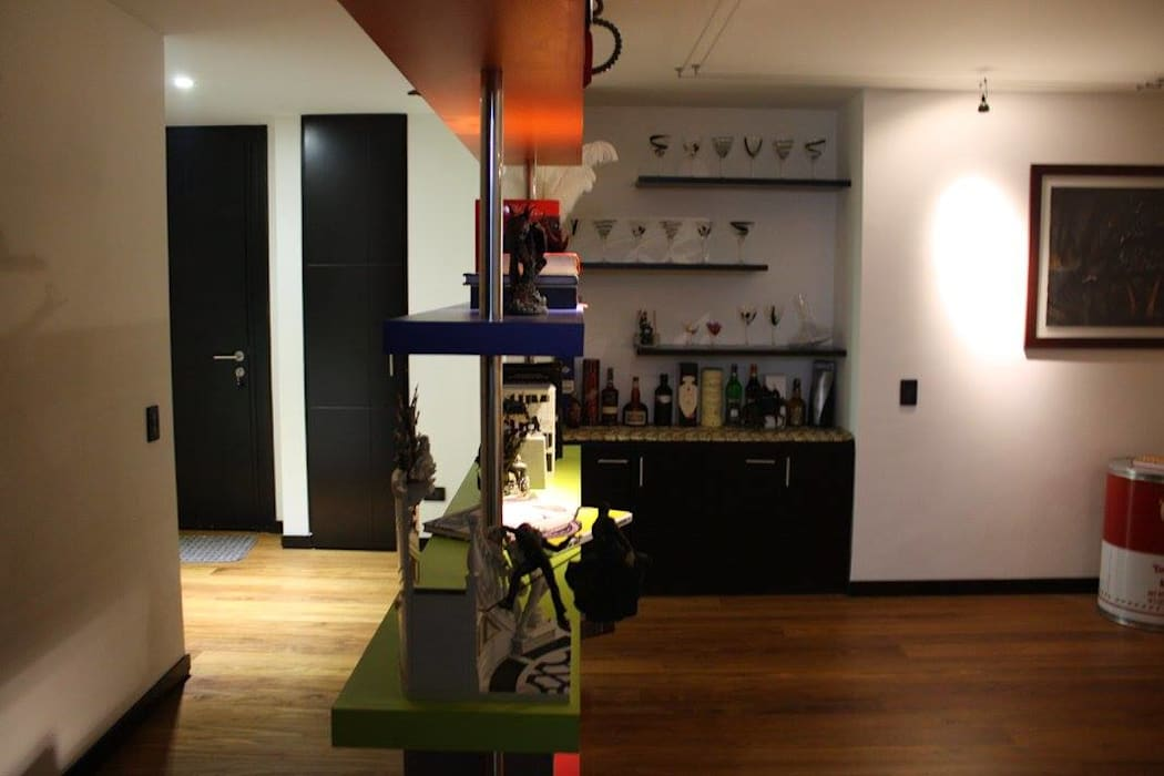 Apartamento Daniel Anzola: Salas de estilo  por Heritage Design Group, Moderno