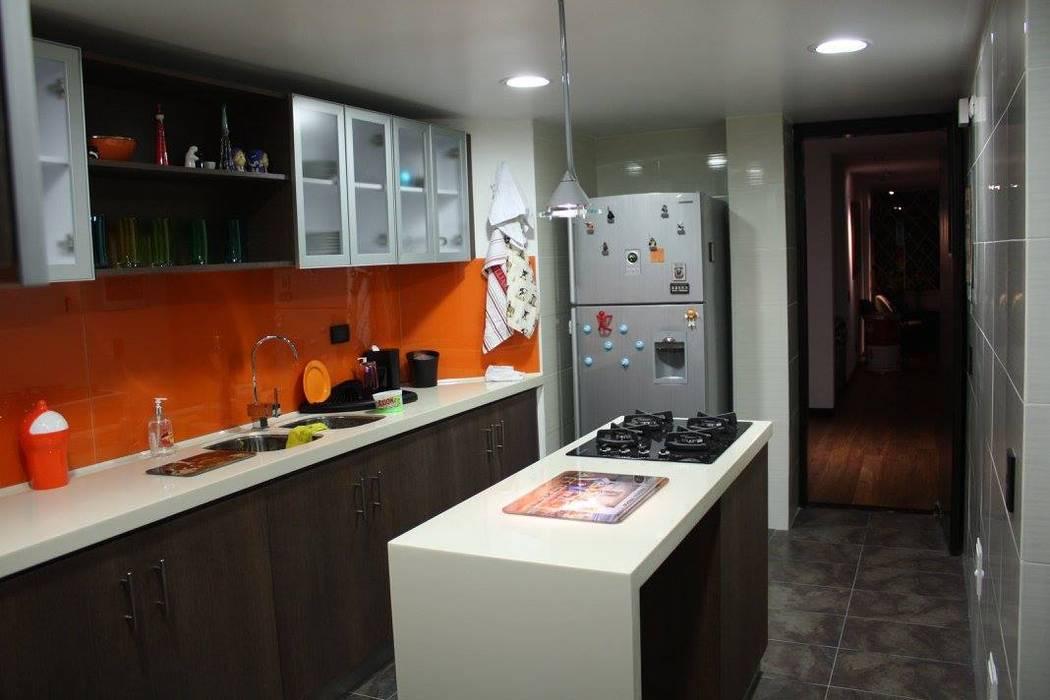 Apartamento Daniel Anzola: Cocinas de estilo  por Heritage Design Group