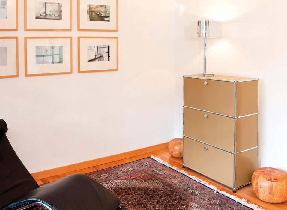 Usm haller highboard mit 3 klappen: wohnzimmer von wohn-design by ...