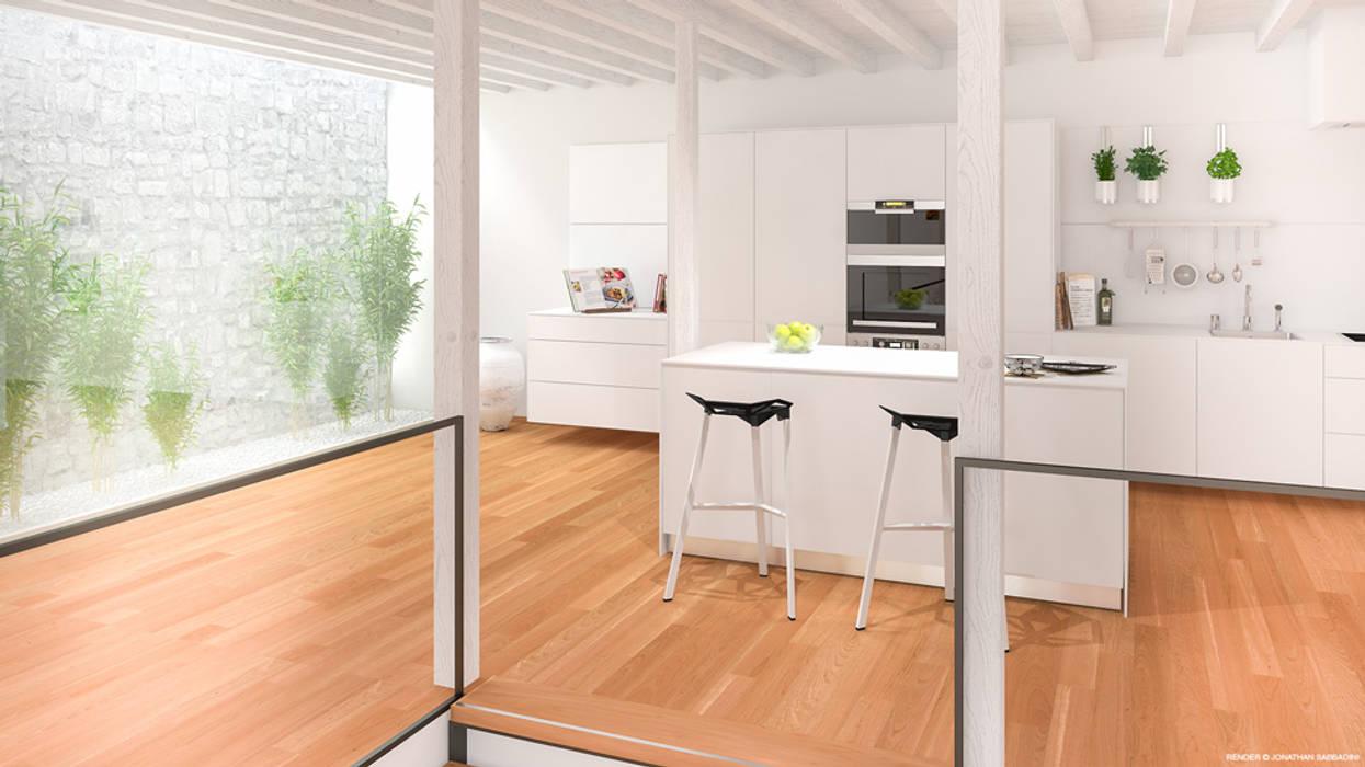 Dapur Gaya Skandinavia Oleh Jonathan Sabbadini Skandinavia Kayu Wood effect