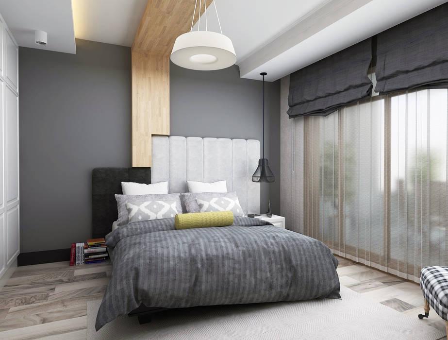 Stüdyo Daire Tasarımı Minimalist Yatak Odası Ceren Torun Yiğit Minimalist