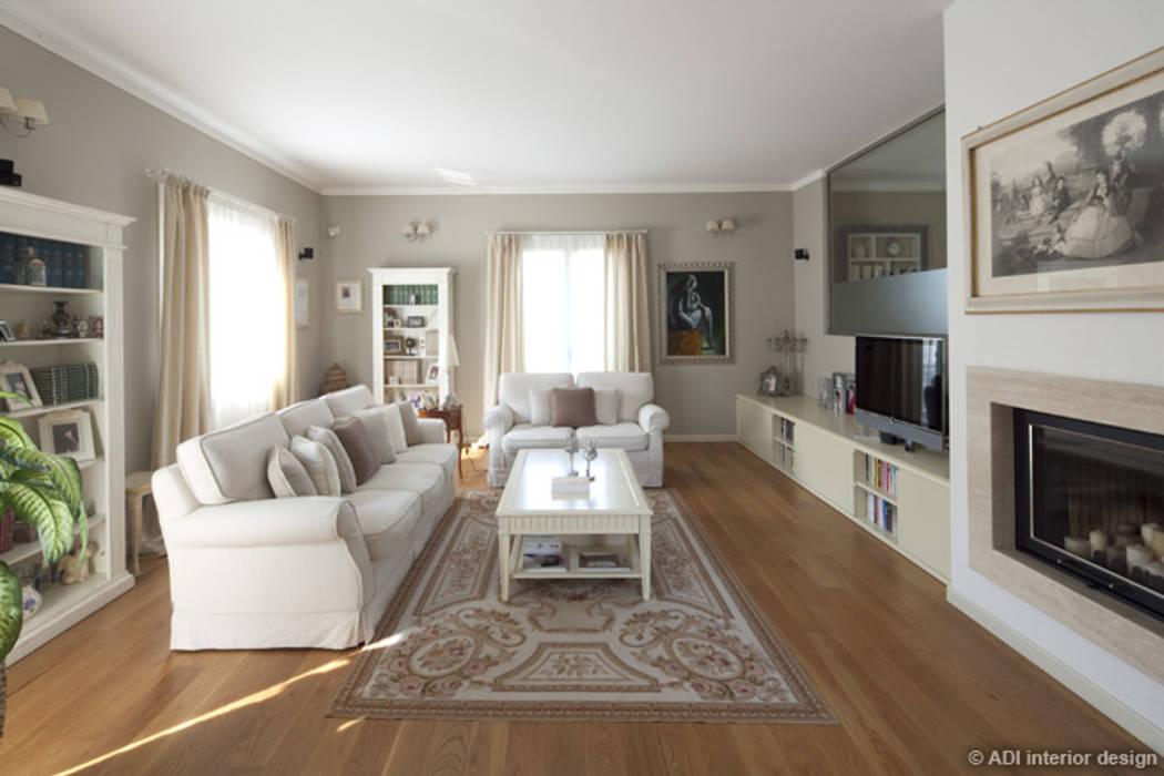 Casa raffinata adi arredamenti soggiorno classico legno ...