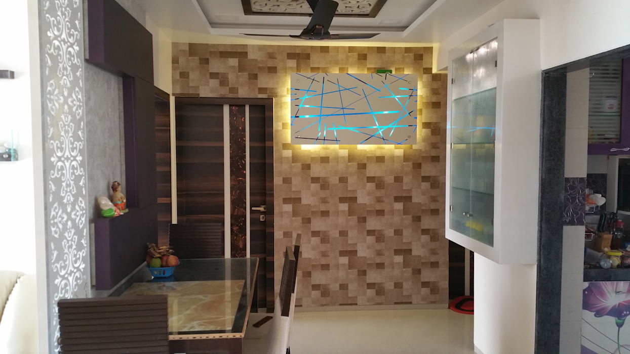 wall highlighter Modern corridor, hallway & stairs by Alaya D'decor Modern Plywood