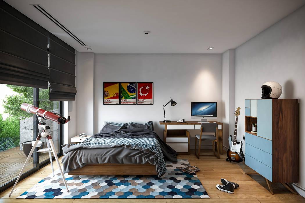 Dormitorios infantiles de estilo moderno de BUUN MOTTO ARCHITECTS Moderno