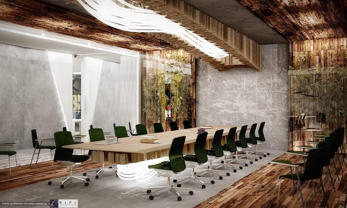 HePe Design interiors – Şoteks Label Maker:  tarz Ofis Alanları,