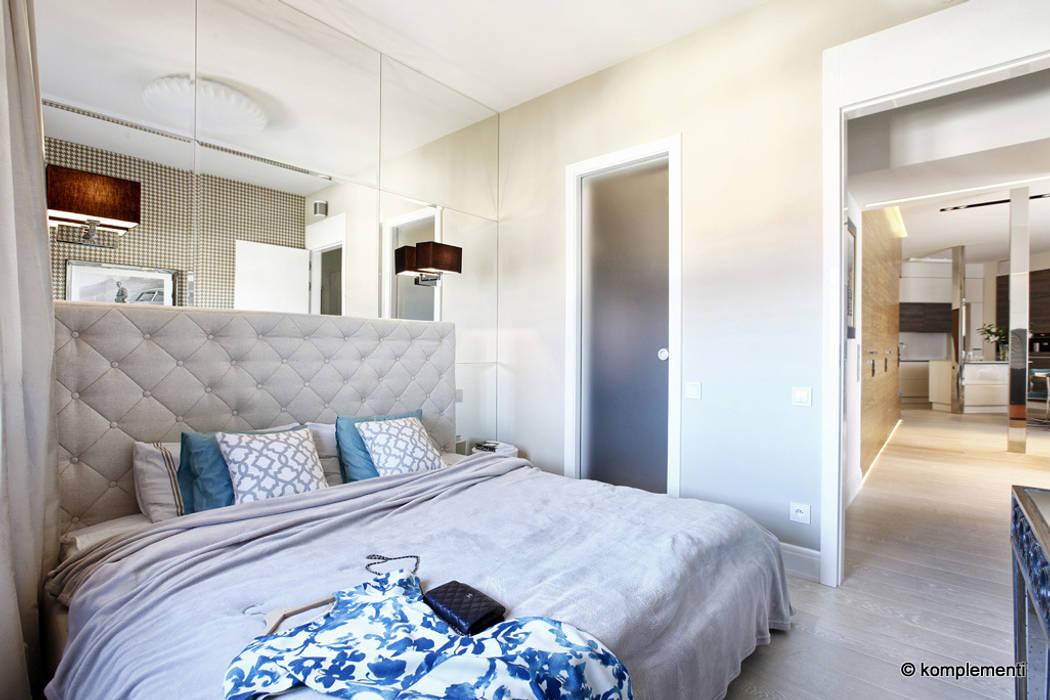 Projekt Apartamentu Nad Morzem Styl W Kategorii Sypialnia