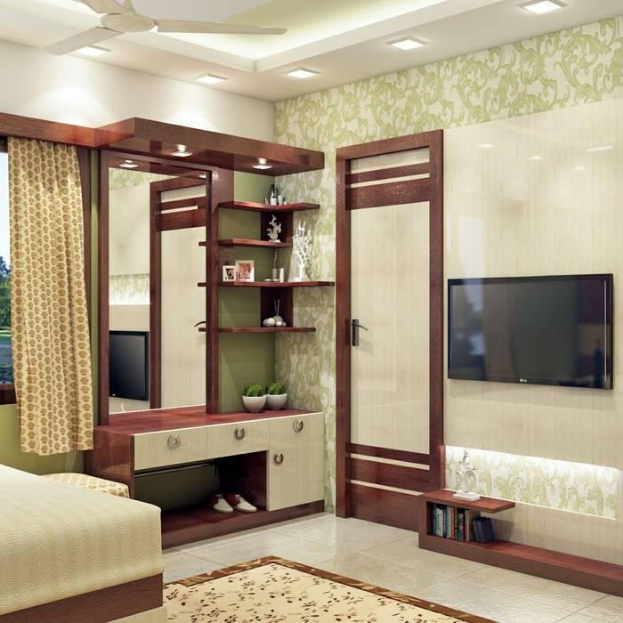 Master Bedroom Design Dressing Unit Tv Unit View By Creazione