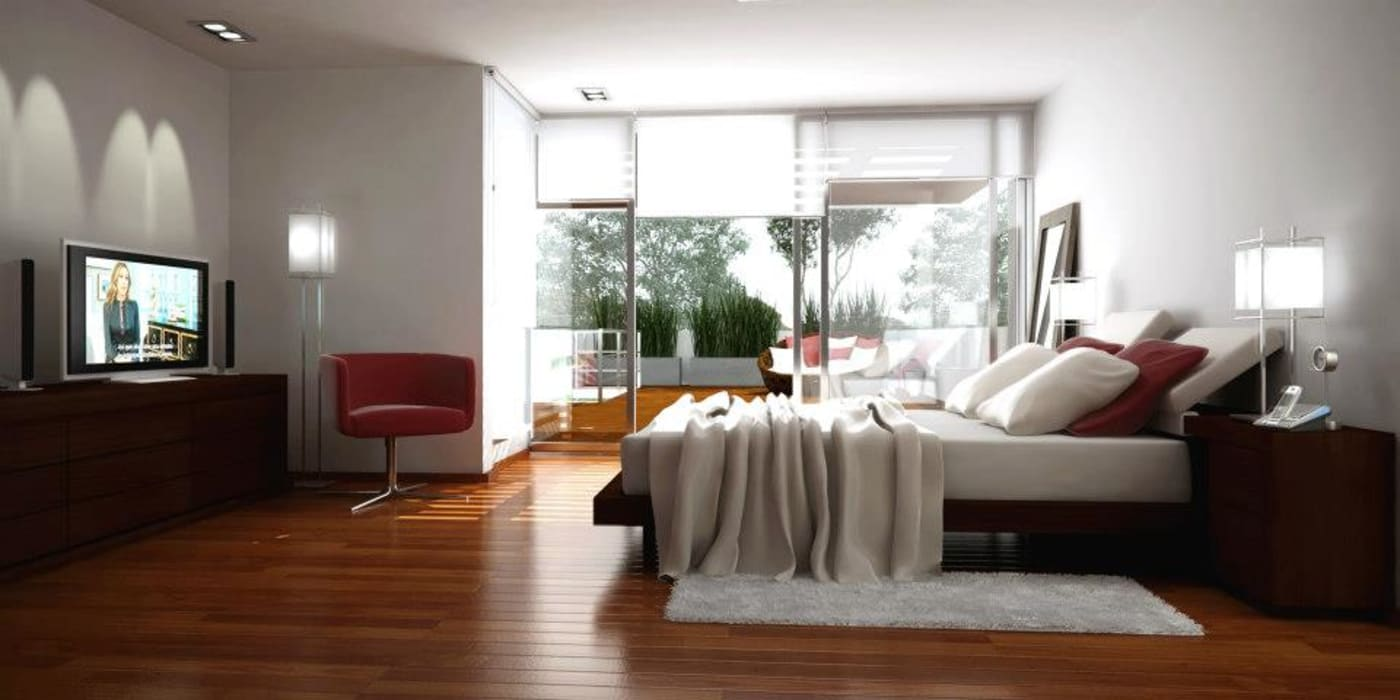 Modern style bedroom by AMADO arquitectos Modern