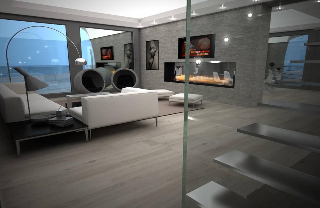 living: Soggiorno in stile in stile Moderno di 3d Creative Solution