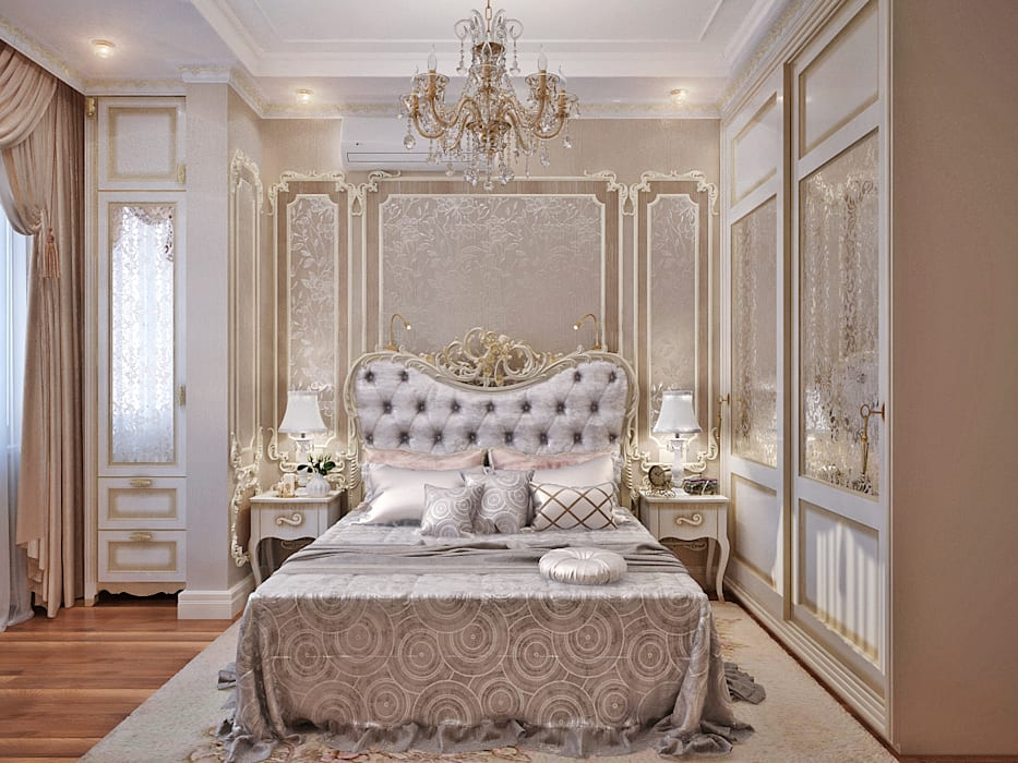 Студия дизайна ROMANIUK DESIGN Dormitorios de estilo clásico