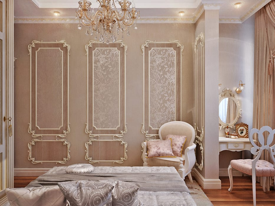 Студия дизайна ROMANIUK DESIGN Classic style bedroom