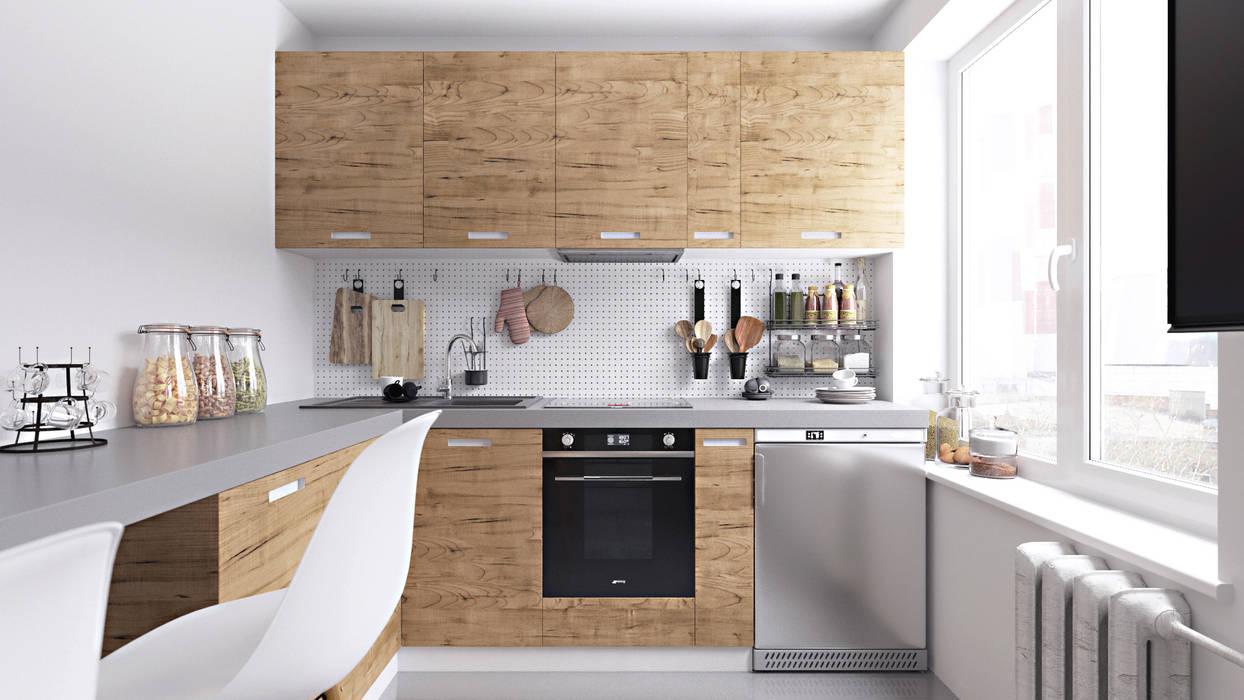 Scandinavian style kitchen by homify Scandinavian Wood Wood effect