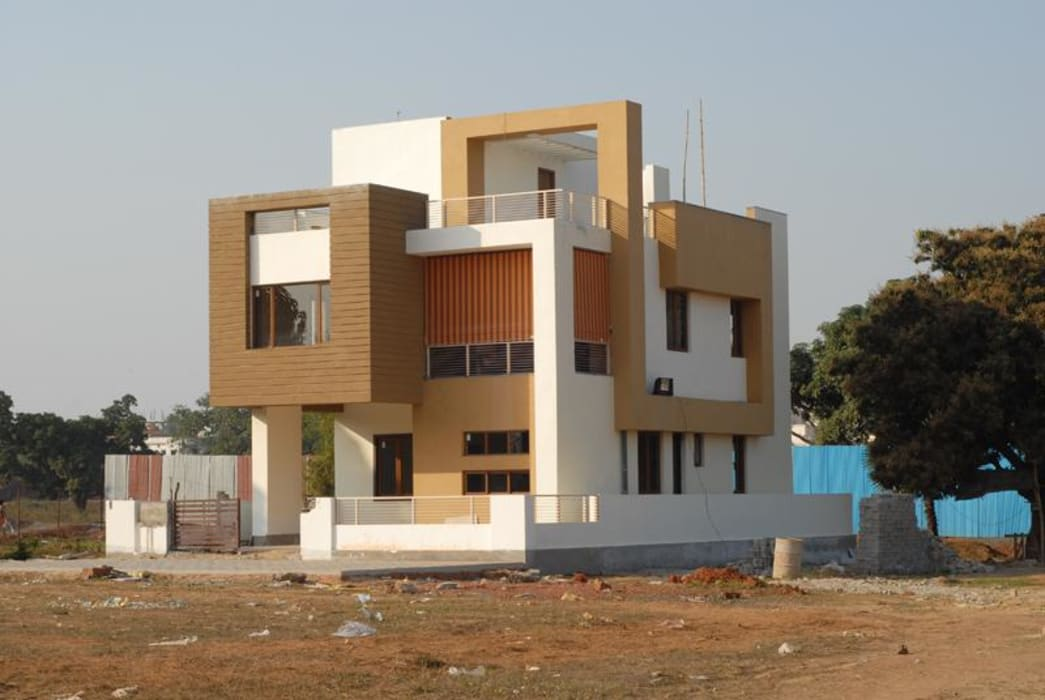 Asian style houses by S.R. Buildtech – The Gharexperts Asian